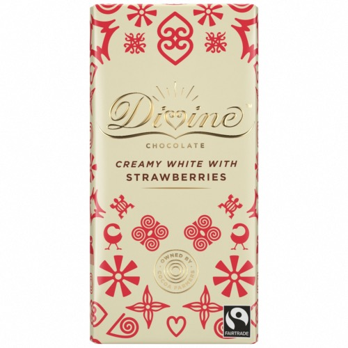 Divine - White Chocolate & Strawberries (15x90g)