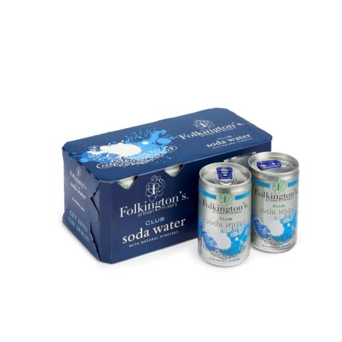 Folkington's - Club Soda Water 'Fridge Packs' (3x8x150ml)