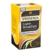 Twinings Tea Bags - Decaffeinated English Breakfast (4x50's)