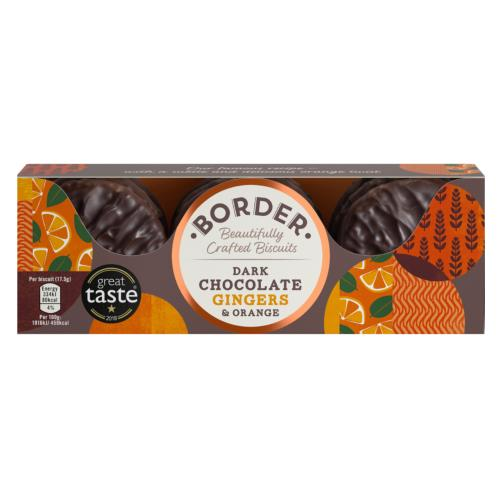 Border - Dark Chocolate Ginger & Orange (14x150g)