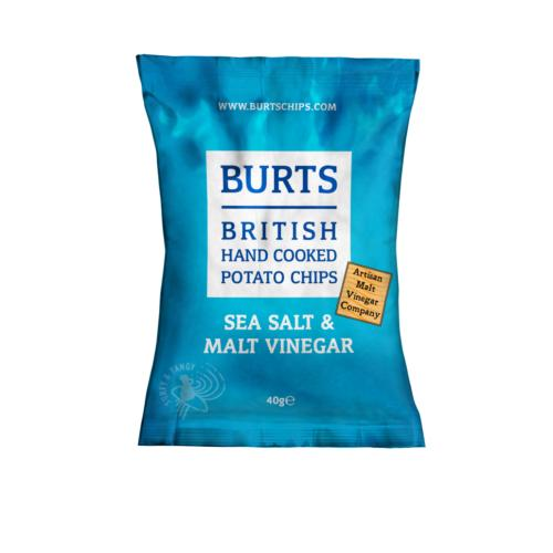 Burts GF Small - Sea Salt & Malted Vinegar (20x40g)
