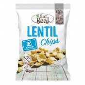 Eat Real GF - SMALL Lentil Chips Sea Salt (12x40g)
