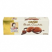 Vicenzi - 'Grisbi' Double Chocolate Cream Biscuits (12x150g)