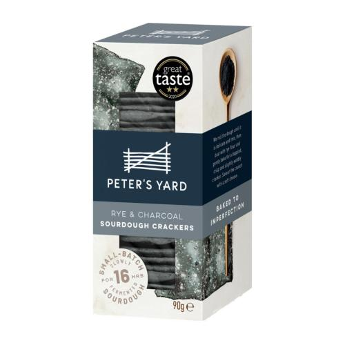 Peter's Yard - Charcoal & Rye Sourdough Crispbread (12x90g)
