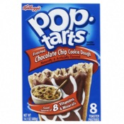 U.S. Kellogg's Pop Tart - 8 Choc Chip Cookie Dough (12x400g)