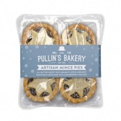 Pullin's Bakery 4 All Butter Artisan Mince Pies (12x240g)