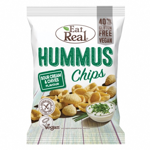 Eat Real GF - Hummus Chips Sour Cream & Chives (10x135g)