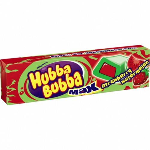 Hubba Bubba Strawberry/Watermelon Max Bubble Gum (18's)