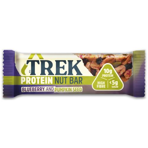 Trek GF Protein Nut Bar - Blueberry & Pumpkin Seed (16x40g)