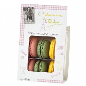 Macarons de Pauline - Strawberry, Pistachio & Lemon (12x72g)