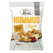 Eat Real GF - Hummus Chips Chilli & Lemon (10x135g)