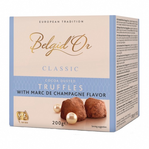 Belgid'Or - Belgian Cocoa dusted Champagne Truffle (12x200g)