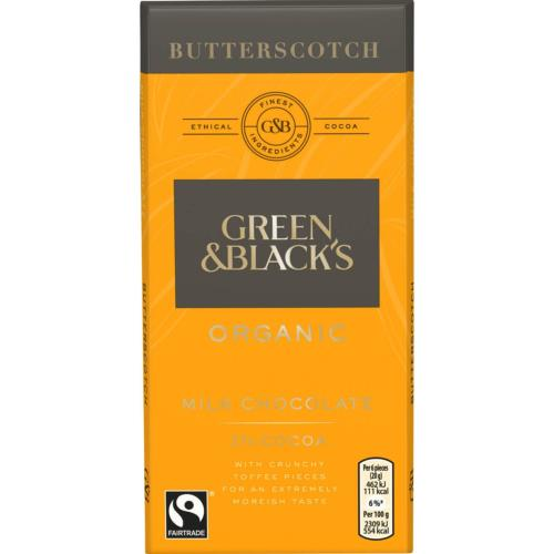Green & Black's Organic Butterscotch Chocolate Bar (15x90g)