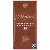 Divine - Milk Chocolate (High Cocoa 45%) (15x90g)