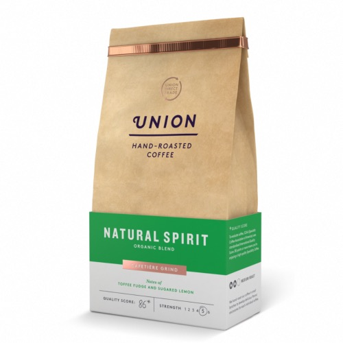 Union Coffee 'Ground' Natural Spirit - Organic (6x200g)