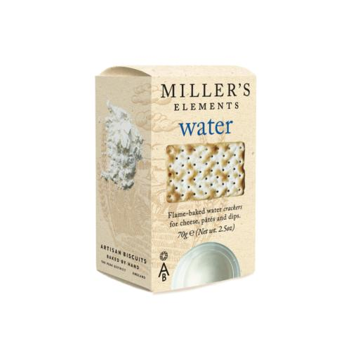 Miller's Elements - 'Water' Crackers (12x70g)