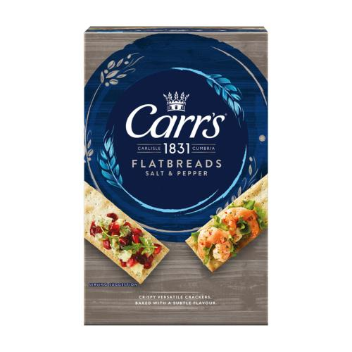 Carr's - 'Flatbreads' Salt & Pepper (5x150g)
