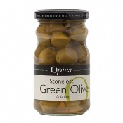 Opies - Stoneless Green Olives (6x227g)