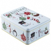 Farmhouse - Bauble Stocking Rectangle Tin
