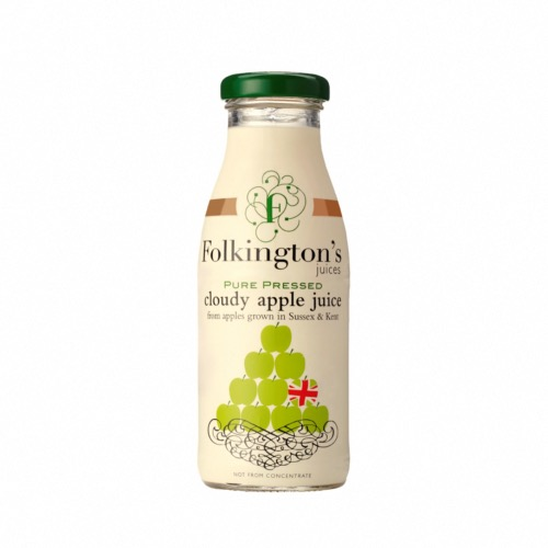 Folkington's - Pure Pressed Cloudy Apple Juice (12x250ml)