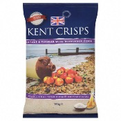 Kent Crisps GF Large - Sea Salt & Cider Vinegar (10x150g)