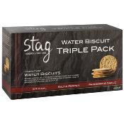 Stag - Water Biscuits 'Triple Pack' (4x450g)
