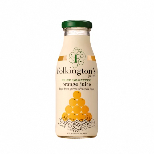 Folkington's - Pure Squeezed Orange Juice (12x250ml)