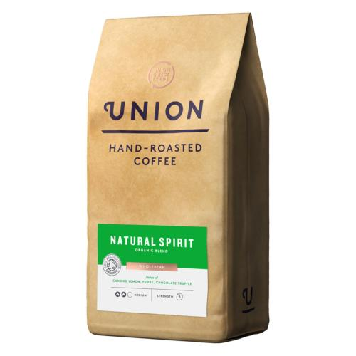 Union Coffee - LARGE 'Wholebean' Organic Natural Spirit (4x5