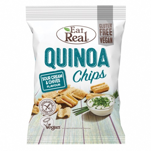 Eat Real GF - Quinoa Chips Sour Cream & Chive (10x80g)