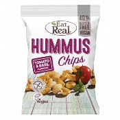 Eat Real GF - Hummus Chips Tomato & Basil (10x135g)