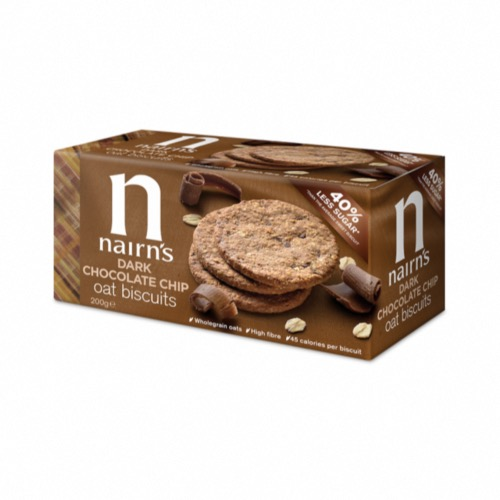 Nairn's - Wheat Free 'Dark Chocolate Chip' Biscuits (8x200g)