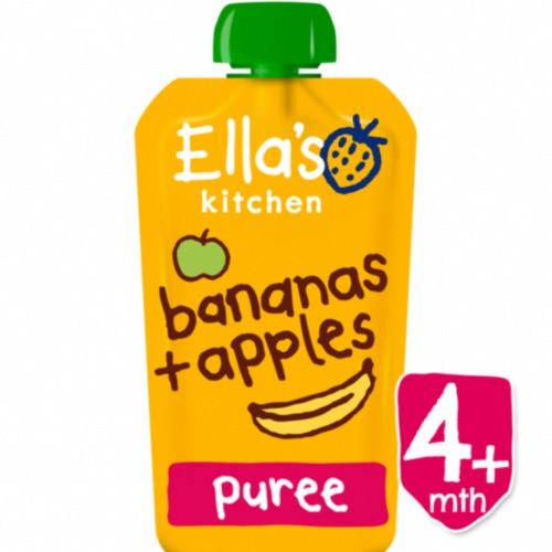 Ella's Kitchen - Stage1 4M+ Apples & Bananas (7x120g)