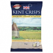 Kent Crisps GF Large - Ashmore Cheese & Onion (10x150g)