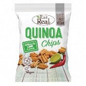 Eat Real GF - Quinoa Chips Chilli & Lime (10x80g)