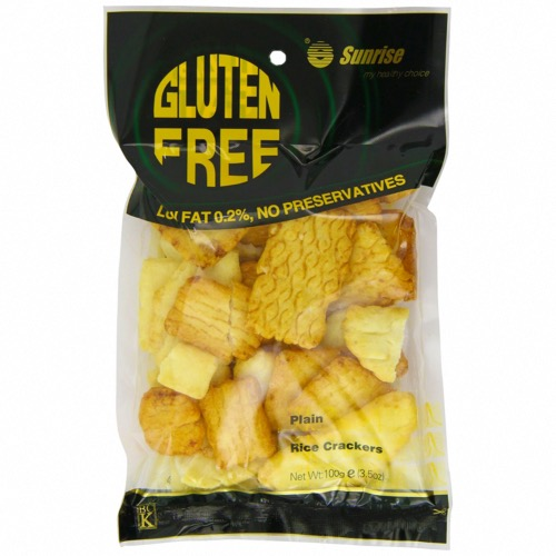 Sunrise GF Rice Crackers - Plain (12x100g)