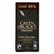 Green & Black's Organic Dark 85% Chocolate Bar (15x100g)