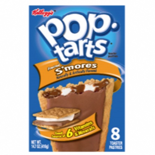 U.S. Kellogg's Pop Tarts - 8 Hot Frosted S'mores (12x416g)