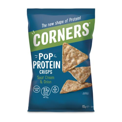 Corners GF - Pop Protein Crisps 'Sour Cream & Onion' (8x85g)