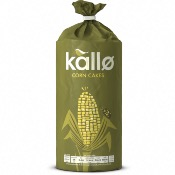 Kallo Corn Cakes GF - Lightly Salted (6x130g)