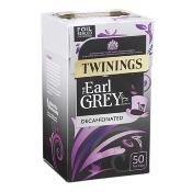 Twinings Tea Bags - Decaffeinated Earl Grey (4x50's)