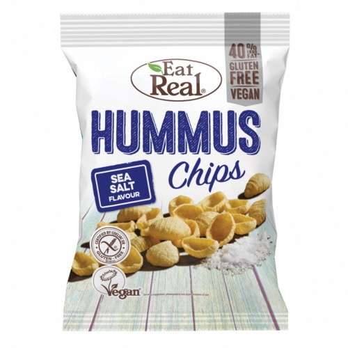 Eat Real GF - Hummus Chips Sea Salt (10x135g)