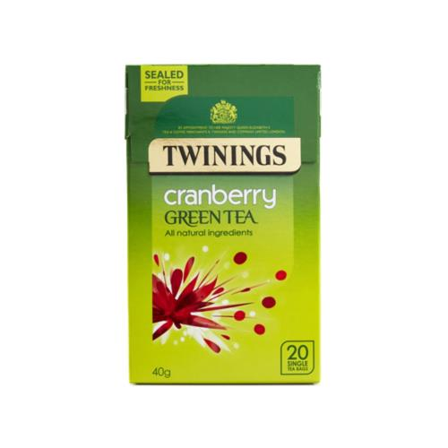 Twinings - Green Tea with Cranberry (4x20's)