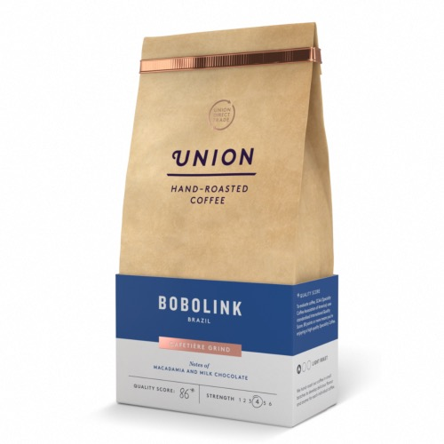 Union Coffee 'Ground' Bobolink - Brazil (6x200g)