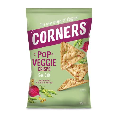 *Corners GF - Pop Veggie Crisps 'Sea Salt' (8x85g)