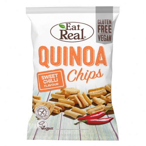 Eat Real GF - Quinoa Chips Sweet Chilli (10x80g)