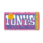 Tony's Chocolonely - White Choc, Raspberry & Popping Candy