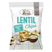 Eat Real GF - Lentil Chips Creamy Dill (10x113g)