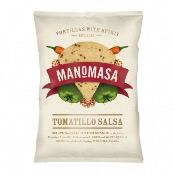 Manomasa Tortillas GF - Tomatillo Salsa Corn Chips (10x160g)