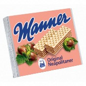 Manner Original Hazelnut Wafer Biscuits (12x75g)