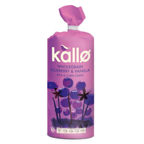 Kallo Rice & Corn Cakes GF - Blueberry & Vanilla (6x131g)